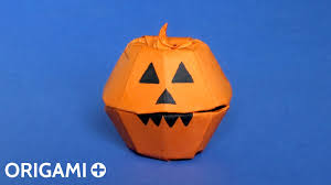 Dirty Pumpkin Carving Pictures by Origami Halloween Pumpkin Box