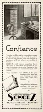 buy 1924 lithograph ad scholz furniture 75 rue lazare