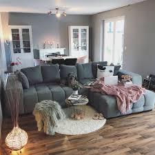 wohn und esszimmer wohnzimmer grau gemütlich bi