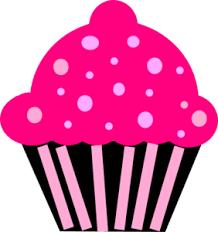 Cupcake Pink Black Clip Art