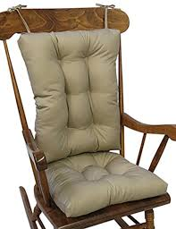 Details About Rocking Chair Cushion Set Rocker Chairs Non Slip Twill Padded  Back Seat Tan Gift