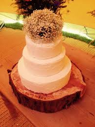 Royal Icing Covered Wedding Cake Rustic Appearance
