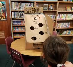 The Students In Library STEAM Club Built Cardboard Arcade Games For Family Arts Integration Night Participants Voted On Their Favorite Game And