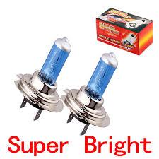 2pcs h7 bright white fog halogen bulb 55w car light