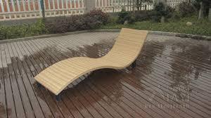 Modern Swimming Pool Waterproof Rattan Sun Lounger To Sea Port By