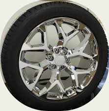 100 Oem Chevy Truck Wheels Style Chrome Snowflake 22 With Bridgestone Dueler