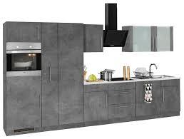 wiho küchen küchenzeile cali mit e geräten breite 360 cm kaufen otto