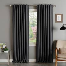 108 Inch Long Blackout Curtains by Solid Insulated Thermal Blackout Curtain Panel Pair Free