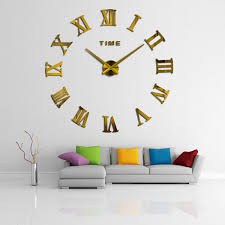 2018 Hot Real Arrival Digital Mirror Big Wall Clock Modern Living Room Quartz Metal Clocks Free Shipping Home Decoration Watch In From