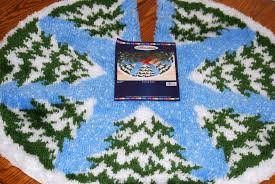 Seashell Christmas Tree Skirt by Latch Hook Tree Skirt Kits Tree Skirts Latch Hook Rugs And Craft