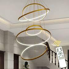 5 ringe 60 80 100 80 60cm moderne led deckenleuchte für wohnzimmer esszimmer küche lustre led hängen beleuchtung leuchten