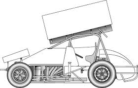 Sprint Car Drawing Template 35 Vector Clip Art