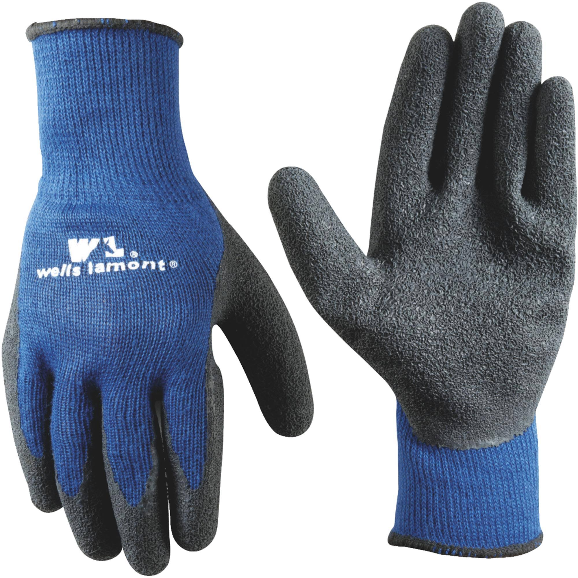 Wells Lamont 524xl Men's Latex Coated Knit Gloves - Blue, X-Large