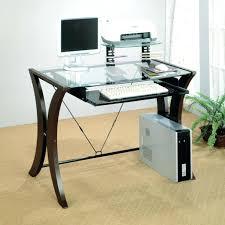 Black Glass Corner Computer Desk by Corner Desk Small Oak Computer Desk In Brown Varnished Modern For