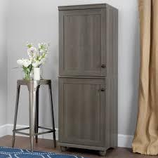 south shore narrow storage cabinet south shore hopedale gray maple 2 door narrow storage cabinet