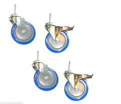 Set Of 4 Stem Casters With 5