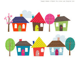Clip Art Of Homes In A Row Clipart Kid