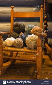 Balls Of Wool On Small Old Wooden Rocking Chair In Bedroom ... Amazoncom Tongsh Rocking Horse Plant Rattan Small Handmade Adorable Outdoor Porch Chairs Mainstays Wood Slat Rxyrocking Chair Trojan Best Top Small Rocking Chairs Ideas And Get Free Shipping Chair Made Modern Style Pretty Wooden Lowes Splendid Folding Childs Red Isolated Stock Photo Image Wood Doll Sized Amazing White Fniture Stunning Grey For Miniature Garden Fairy Unfinished Ready To Paint Fits 18 American Girl
