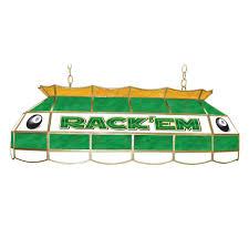 trademark rack em 8 3 light stained glass hanging