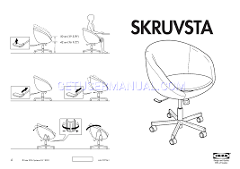 Skruvsta Swivel Chair Black by Ikea Chairs Skruvsta Swivel Chair Assembly Instruction Download Free