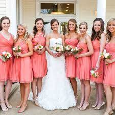 Stunning Salmon Bridesmaid Dresses 88 With Additional Used Wedding
