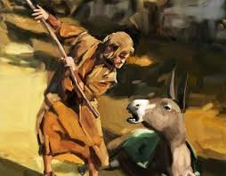 Balaam Is Beating The Donkey When In Fact Saving From Danger