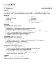 Housekeeping Resume Samples
