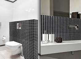 wandora 1 set fliesenaufkleber 25 3 x 3 7 cm schwarz weiß