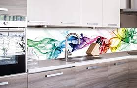dimex line küchenrückwand folie selbstklebend rauch klebefolie dekofolie spritzschutz für küche premium qualität made in eu 260 cm x 60 cm