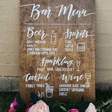 Lexxi Wooden Sign With This Font Style And A Drawing Description Of The Drink Wedding Signs Rustic Chalkboards For Businesses Events Home