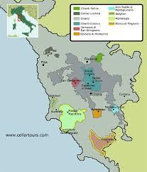 Tuscany Map Courtesy Of Cellartours