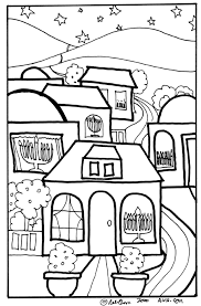 Hanukkah House Printable Coloring Page For Kids