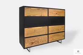 elegante kommode aus massivholz ins wohnzimmer nesca ii