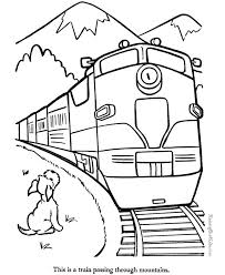 Trains Crossing The Mountains Coloring Pages For Kids Printable
