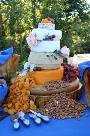 Cheese Wheel Wedding Cake And Toppings Were Purchased By Bride Assembled Khimaira