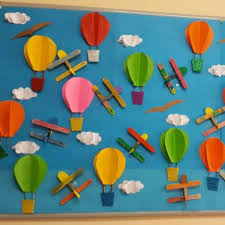 Balloon Crafts For Preschoolers Hot Air Clipart Art And Craft Pencil In Col On