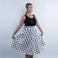 plus size maxi skirt polka dot quantum