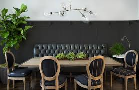 Black Dining Room With Wainscoting