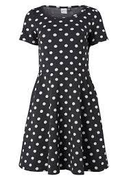 orla polka dot dress vintage inspired jersey stretch day dress