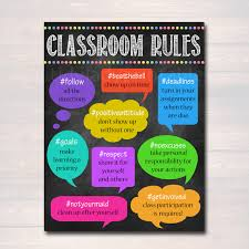 Hashtag Classroom Rules Poster Policies