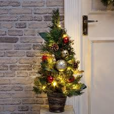 2ft Miniature Pre Lit Christmas Tree Trees Artificial