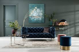 kare polsterhocker cherry brass kleiner moderner design hocker mit samtbezug rund 35 cm blau silber h b t