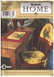 Simplicity 8603 Futon And Chair Covers, Table Accessories Size: One Uncut  Sewing Pattern