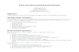 Entry Level Accountant Resume Sample Samples For Jobs Fresh Accounting