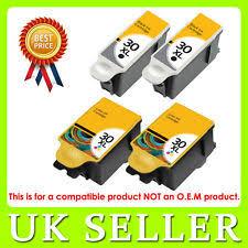 4 Kodak 30 Black Colour XL Ink Cartridge For ESP C315 C310 C110 C115 Hero