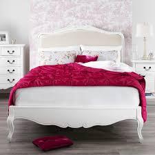 Juliette Shabby Chic White Upholstered 6ft Super King Bed