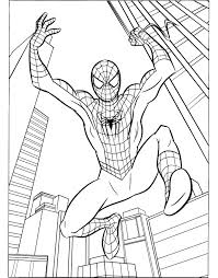 Spiderman Color Pages Printables Archives In Printable Coloring