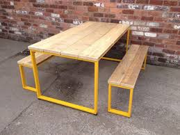 U BAR DINING Table With Yellow Frame