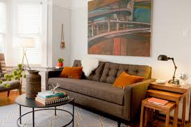 Brown Couch Living Room Design by 5 Stylish Apartment Sized Sofas For The New Renter Hgtv U0027s