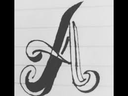 How to write Alphabet A in different style Letter A calligraphy